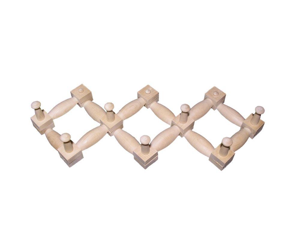 Деревянная вешалка на 7 крючков